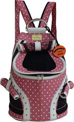 Doggy Dolly PC149 Rucksack für Hunde pink mit Tupfen (Dolly Für Rucksack)