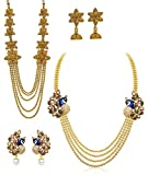 #5: YouBella Jewelry Gold Plated Combo Of Two Necklace for girls fashion party wear Jewellery set with Earrings For Girls/Women