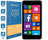 PREMYO Panzerglas für Nokia Lumia 630 Schutzglas Display-Schutzfolie für Lumia 630 Blasenfrei HD-Klar 9H 2,5D Echt-Glas Folie kompatibel für Lumia 630 Gegen Kratzer Fingerabdrücke