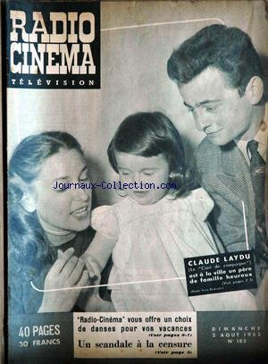 RADIO CINEMA TELEVISION [No 185] du 02/08/1953 par COLLECTIF