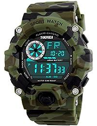 Skmei Multifunction Military Green Digital Sports Watch For Men's & Boys.