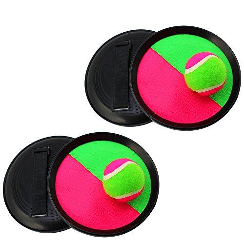 COM-FOUR® 6-teiliges Klettball-Set, Ø 20 cm, im Netz (2 Stück - 6-tlg)