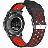 BarRan® Huawei Watch Bracelet, en silicone doux respirant Sport Band étanche Alternative Bracelet de montre bracelet pour Huawei Watch/ LG Watch Style/ Withings Steel HR 36mm and other 18mm Universal Smart Watch Bracelets