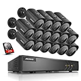 ANNKE 16CH 1080P Lite CCTV Camera Systems with 2TB Hard drive and 16x
