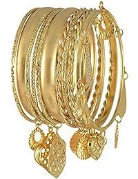The Pari Jewellery Gold Color Alloy Bangle Set For Women PJ-006