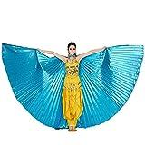 Schmetterlings Schal,Sasstaids Ägypten Bauchflügel Tanzkostüm Bauchtanz Zubehör No Sticks