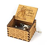 #10: Pi² Pirates of the Caribbean Davy Jones 18 Note Hand Crank Mechanism Music Box Crafts Melody Castle in Hand