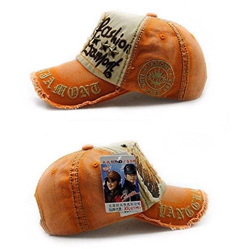 Dairyshop Uomo Unisex Uomo Snapback Reggiseno Baseball Cap Hip Hop Cappello Cool Bboy (Cachi) Arancione