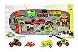 Toi-Toys 28093A Traktor Landmaschinen Set Anhänger Traktoren Mähdreschern Gabelstapler Jungen Mädchen Kinder Kinderspielzeug