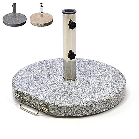 Nexos Schirmständer Sonnenschirmständer Granit poliert rund Ø 50cm Steindicke 5cm