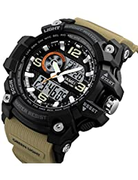 SKMEI Analogue-Digital Black Dial Men's Watch -SKM-1283-Brown