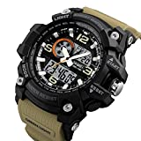 Skmei Analog-Digital Black Dial Men's Watch-1283 Brown