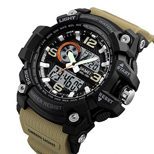 Skmei Analog-Digital Black Dial Men's Watch-1283 Brown
