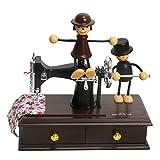 Sidiou Group Kreativ Klassisch Nähmaschinen Modell Spieluhr Mechanisch Lovely Spieluhr Romantische Spieluhr Retro Spieldose
