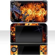"Nintendo 3DS XL Skin "" FIRE DRAGON "" Aufkleber Sticker Folie Schutzfolie"