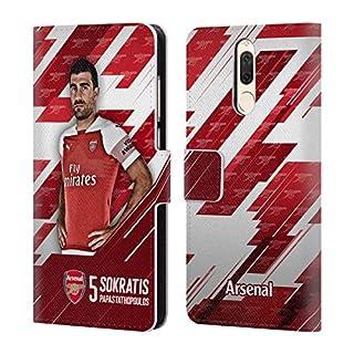 Offizielle Arsenal FC Shkodran Mustafi 2018/19 Erstes Team Gruppe 1 Brieftasche Handyhülle aus Leder für Huawei Mate 10 Lite