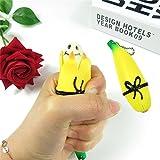 Nouveauté Squeeze Banana Jouet Pop Out Banane Poupée avec Porte-clés Slow Rising Soulagement Du Stress Jouets Prank Blague Jouet Cadeau