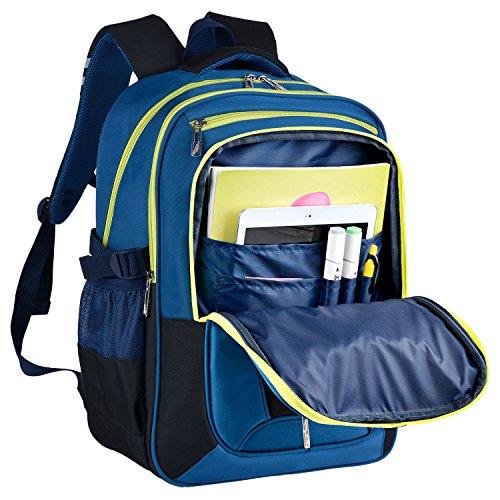 Schulrucksack, Coofit Kinderrucksack Daypack Schultasche Grundschule Backpack Schulranzen für Mädchen Jungen Teenager Jugendliche - 6