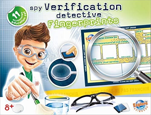 Popsugar Fingerprints Verification Fun Project Educational DIY Science Kit for Kids   Identify Fingerprint Like a Detective, Multicolor