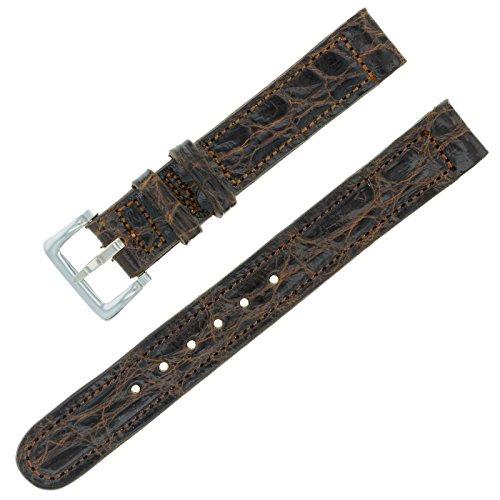 Movado 12–12mm braun Leder Damen-Armbanduhr Band