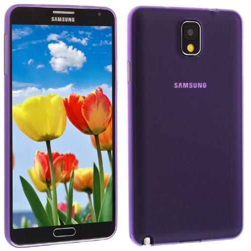 Preisvergleich Produktbild Ultra Slim TPU Case für Samsung Galaxy Note 3 N9000 Bumper Cover Hülle Etui Schale Schutz Ultraslim 0,0,2 mm dünn Hochwertig: Farbe: Lila