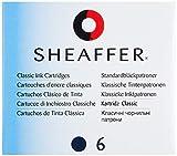 Sheaffer 96213 - Cartuchos de tinta de recambio para pluma estilográfica, color azul y negro