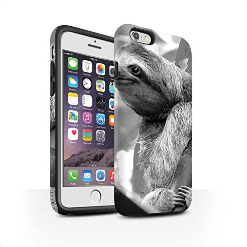 STUFF4 Matte Harten Stoßfest Hülle / Case für Apple iPhone SE / Wolf Muster / Zoo-Tiere Kollektion Faultier