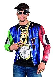 Boland 84216 - Camisa Rapper fotorrealista, disfraces para adultos