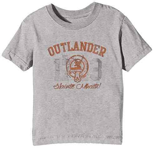 Outlander - Outlander Kinder Unisex Jungen Mädchen T-Shirt Rundhals Grau Kurzarm Größe L Kids Boys Girls Grey Large Size L (Jam Kids 11 Space)