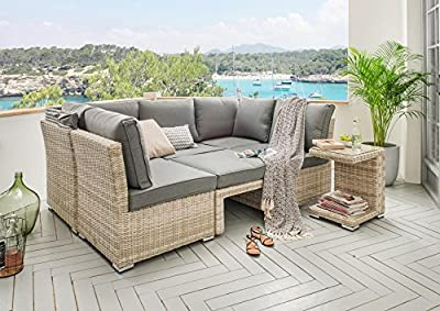 Lounge Destiny Loungegruppe Aruba Sitzgruppe Sofaset Faltdach Polyrattan von Destiny auf Gartenmöbel von Du und Dein Garten