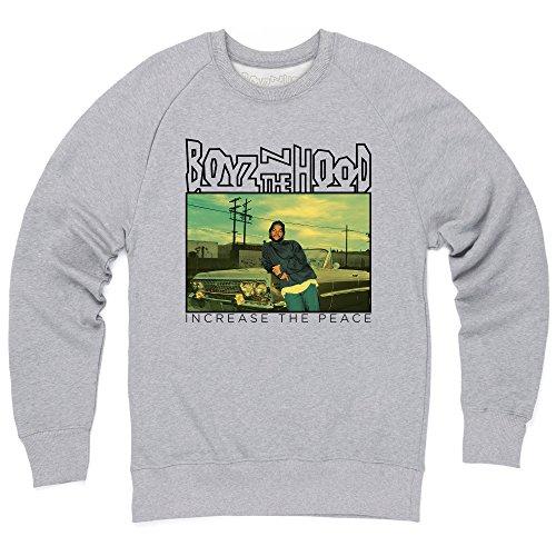 Official Boyz N The Hood Doughboy Sweatshirt mit Rundhals, Herren, Grau meliert, L