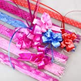 #6: JMK 100Pcs Pull Flower Ribbon For Gift Wrap & Decoration Multicolor (Large size ) Spacial gift Ribbon Best Quality