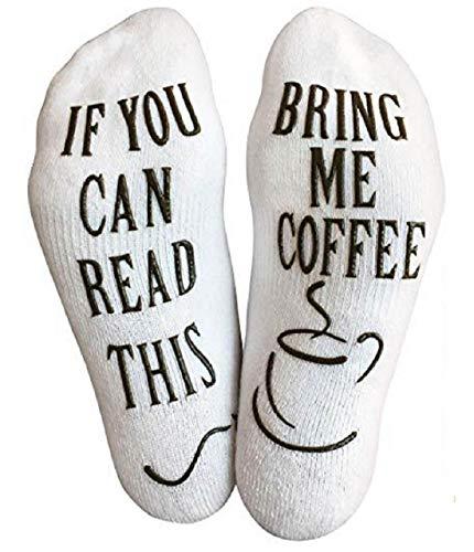 TuopudaWitzige Kaffee Socken Wenn Du Das Lesen Kannst KaffeeGeschenk für Kaffeeliebhaber...