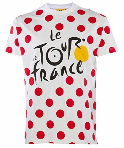 Tour de France T-Shirt Radfahren-offizielle Kollektion-Größe Erwachsene Herren L weiß