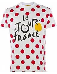 T-Camiseta del Tour de France de cyclisme-Colección oficial para hombre, talla de adulto, Le Tour de France, color Blanco - blanco, tamaño L