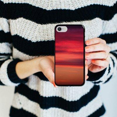 Apple iPhone X Silikon Hülle Case Schutzhülle Sonnenuntergang Himmel Romantik Hard Case schwarz