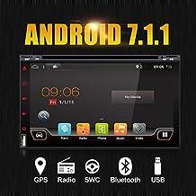 """Mejor WiFi modelo 7.1 Android Quad-Core 6.95"""" Full pantalla táctil universal de coche DVD reproductor de CD GPS 2 DIN estéreo GPS navegación libre cámara"""