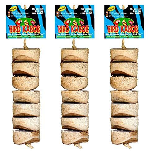 PETGARD 3er Sparpack Vogelspielzeug Original Bird Kabob ideal für Sittiche und kleine Papageien