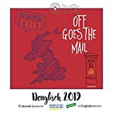 Denglisch 2019: Typo-Art Broschürenkalender mit Ferienterminen. Wandkalender mit wörtlich übersetzten Sprichwörtern.
