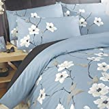 'Chichi' King Duvet Cover Set in Aqua, Includes: 1x King Duvet Cover and 2x Pillowcases