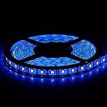 5M Ruban LED Flexible Bleu, 300 Unités SMD LED 5050, 12V Bande Lumineuse, Idéal pour Décoration Intérieure, Noël, Mariage, Festival, Bal, Party [Classe énergétique A+]