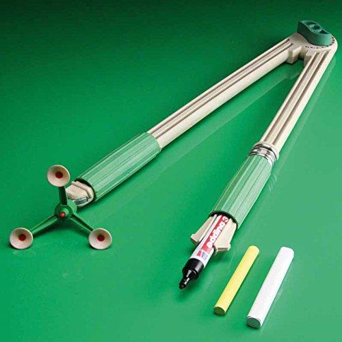 FTM® RE-Wood® Tafelzirkel mit 3er Saug-Fuß, großer Zirkel für Tafel und Whiteboard mit Stifthalter, als Schulbedarf und Lehrmittel