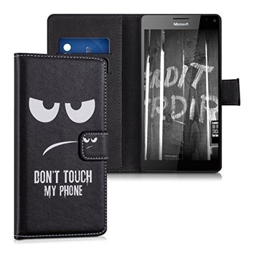 kwmobile Microsoft Lumia 950 XL Hülle - Kunstleder Wallet Case für Microsoft Lumia 950 XL mit Kartenfächern und Stand