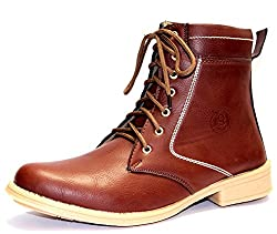 Guava Mens Brown Synthetic Toe Boots 9 UK