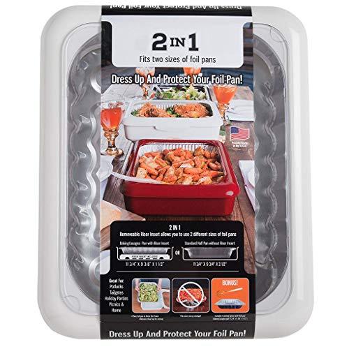 Abschnitt Appetizer Tray Serria® Gefrier Tabletts Lebensmittel Aufbewahrungs Tabletts für Obst,Gemüse,Fleisch,Suppe, Vielseitige Konservierung Box (Weiß)