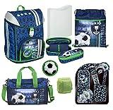 Familando Fußball Schulranzen-Set Scooli FlexMax 7tlg. mit Sporttasche und Regenschutz
