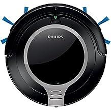 Philips SmartPro Robot Aspirador, diseño súper Compacto 6 cm, Sistema de Limpieza de 2