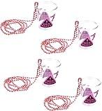 4 Stück Schnapsglas Accessoires Trinkbecher mit Perlenkette Aufschrift Hen Party Schnapsbecher Junggesellenabschied