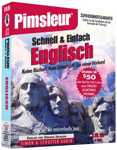 Pimsleur English for German Speakers Quick & Simple Course - Level 1 Lessons 1-8 CD: Learn to Speak...