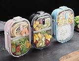 Brotdose,Bento Box für Kinder Rostfreier Stahl Auslaufsicher Bento Brotdose mit 2 Fächern Lebensmittel-Snack-Container für Erwachsene, langlebig, Leicht zu reinigen mit abnehmbarem Silikongriff,Rosa